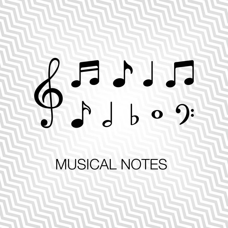 Music Notes Svg, Music, Graphic, Cutout, Vector art