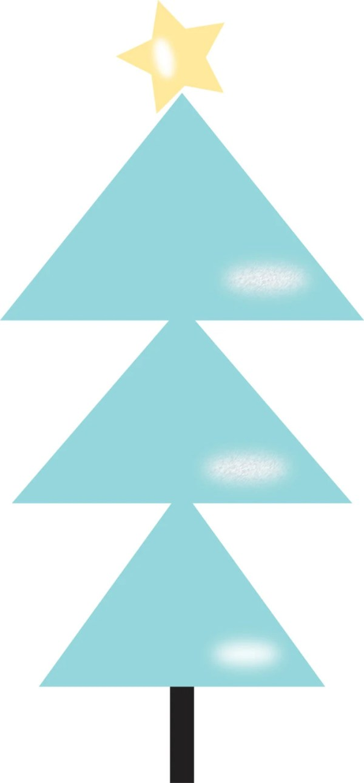 modern christmas tree clip art