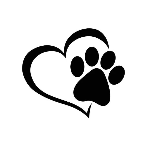 Download Paw Heart Dog Cat Love Pet Graphics SVG Dxf EPS Png Cdr Ai ...