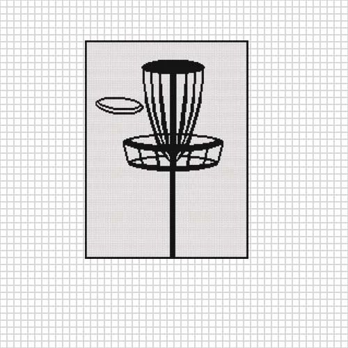 INSTANT DOWNLOAD Disc Golf afghan crochet cross stitch