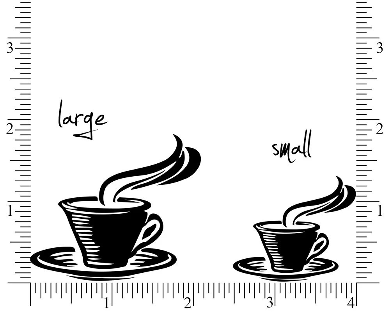 Coffee Wedding Stamp, Coffee Cup Stamp, Coffee Favor Stamp