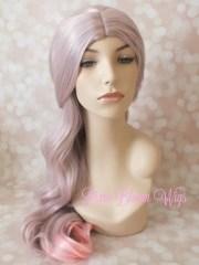 fairy hair wig lavender pink