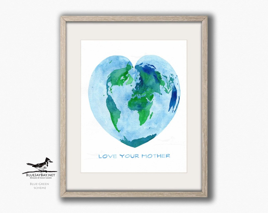 Love your mother mother earth world map blue jay bay mother earth world map gumiabroncs Gallery