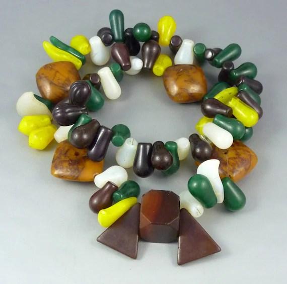 Mali old fulani glass beads W Africa Mali antique african