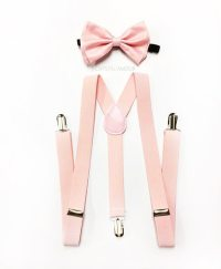 mens suspenders blush pink bowtie soft pink bowtie blush