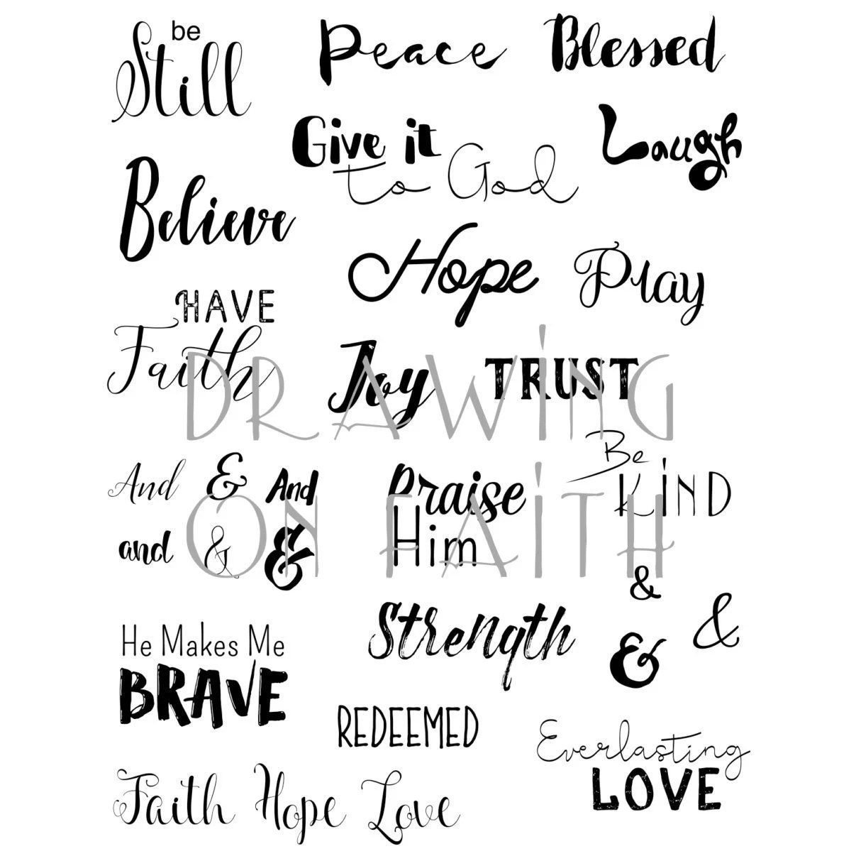 Faith Words Printable File Bible Words Bible Journaling