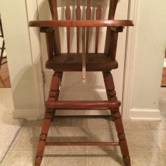 Vintage Wooden Chairs Iron Patio Chair Glides High Jenny Lind Antique
