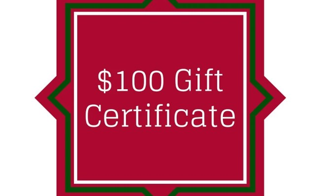 Gift Certificate Gift Card 100 Dollars By Teamcolorsbycarrie