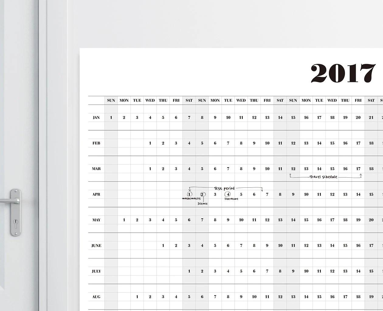 Wall Calendar A1a2a3 Size Printable Calendar