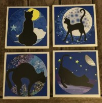 Decorative Tiles Cat Drink Coasters Wall Decor Home Decor