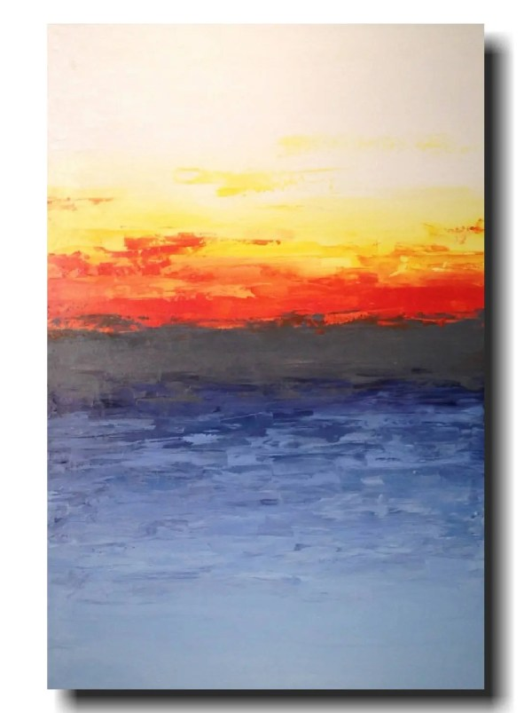 Original Large Abstract Painting Oil Paintings 24 X 36