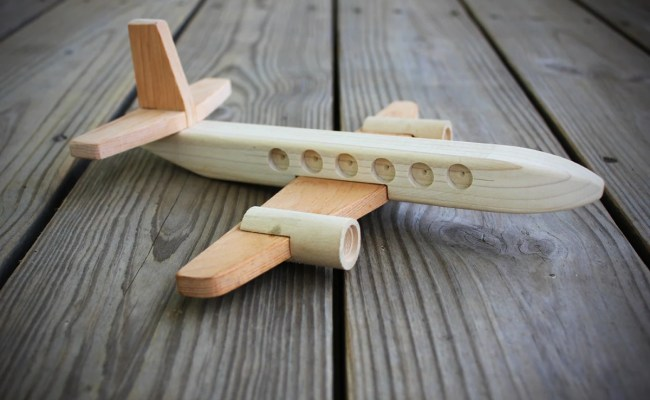 Wooden Toy Airplane Wood Plane By Jkartshop On Etsy