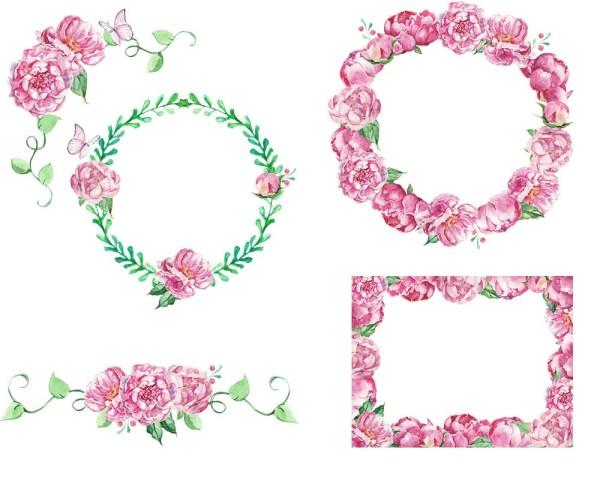 digital 12 watercolor romantic