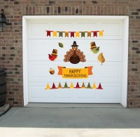 Thanksgiving wall decal Thanksgiving garage decals