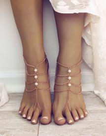 Bia Barefoot Sandals Foot Jewelry Beach Wedding