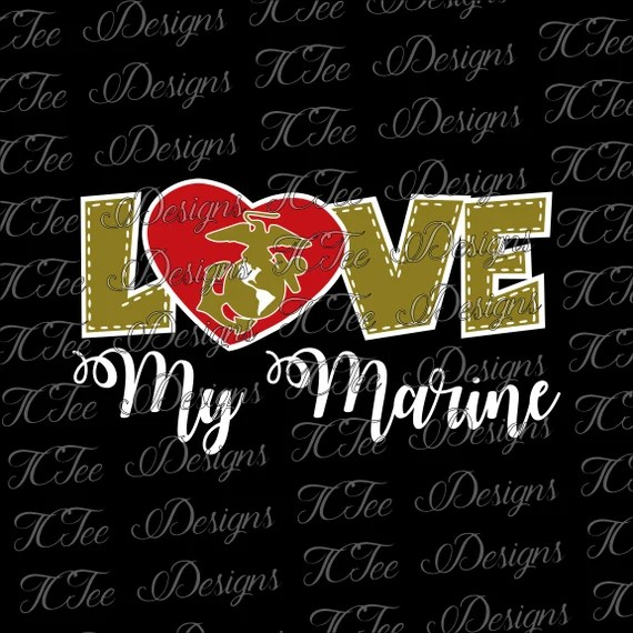 Download Love My Marine USMC Marine Wife SVG Design Download