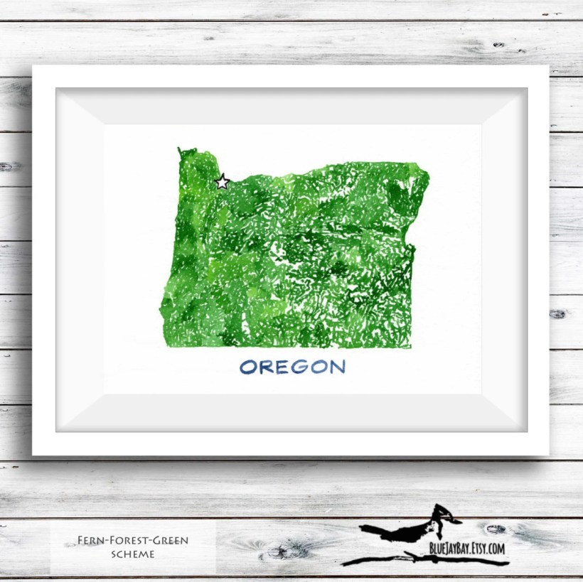 Oregon art map