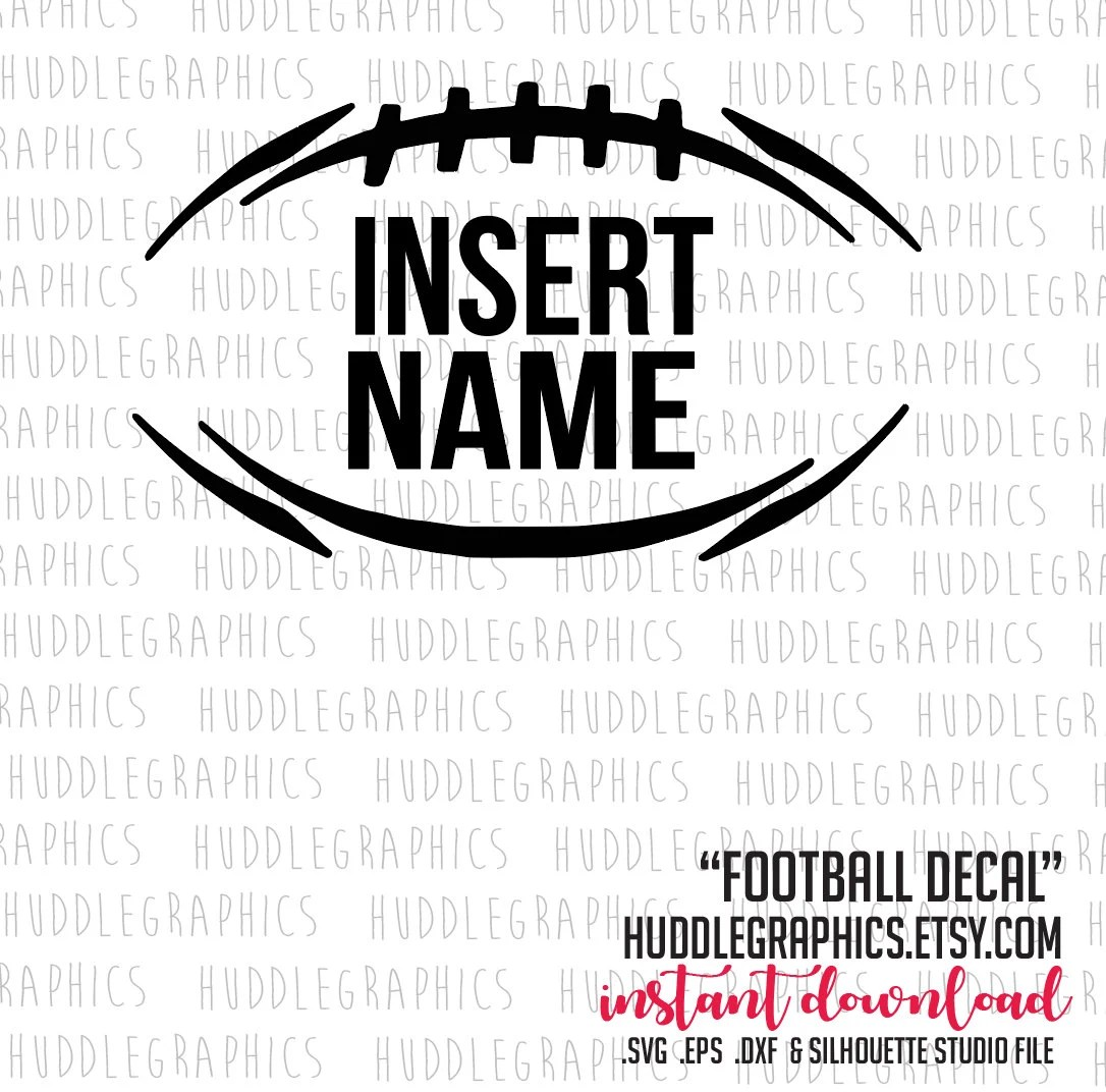 Football Decal .svg, .eps, .dxf, silhouette studio cut