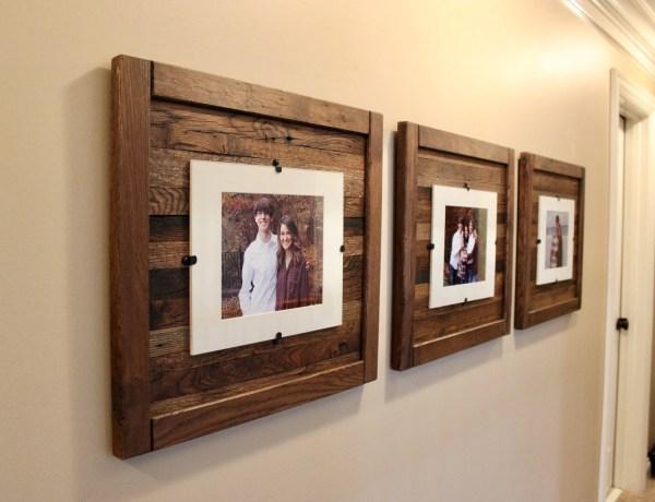 Reclaimed Wood Frames Large Set Of 3 8 X 10