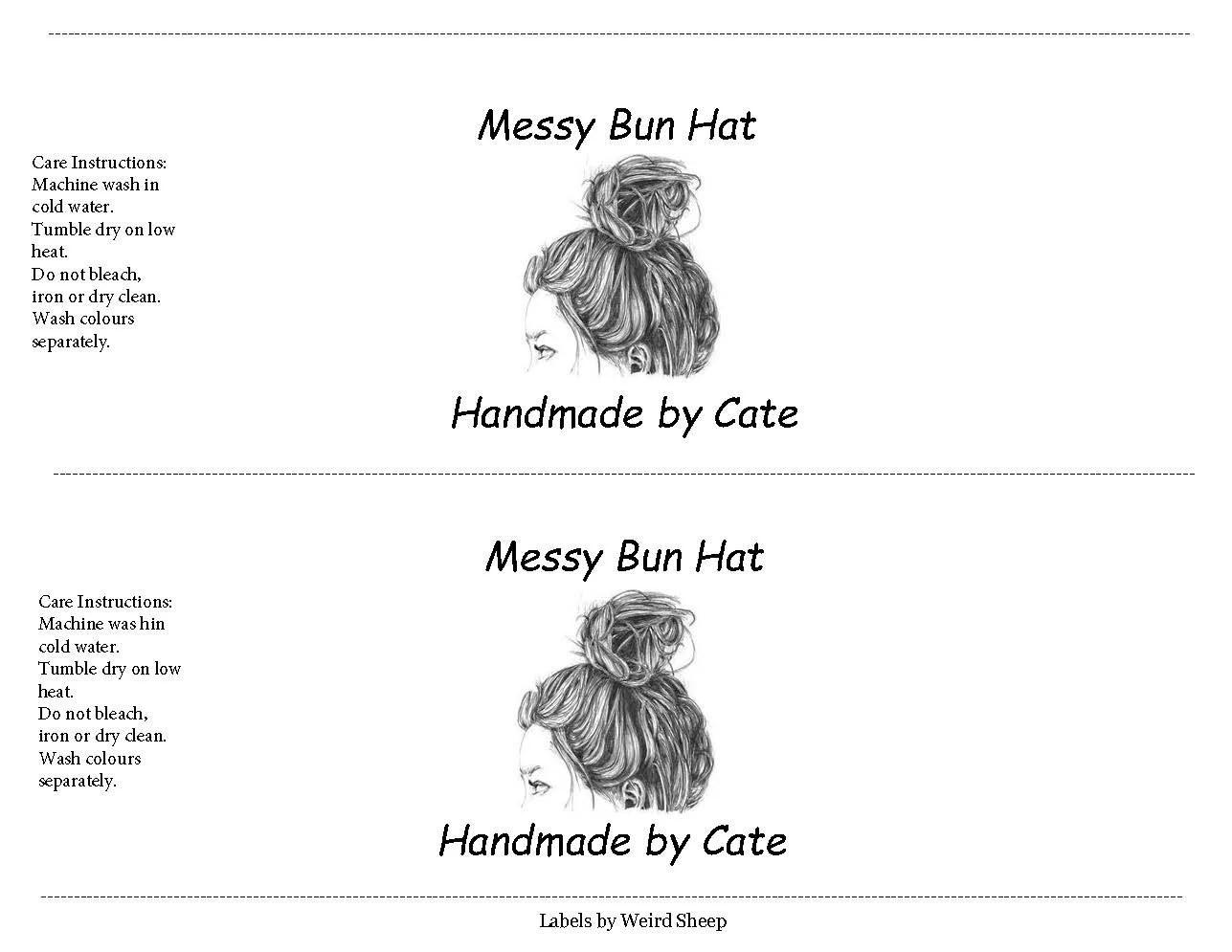 Messy Bun/Ponytail Hat Landscape Wrappers Cowl Hat