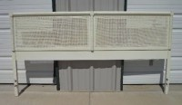 Headboard Cane Dixie Wicker King Bed Bedroom Furniture White
