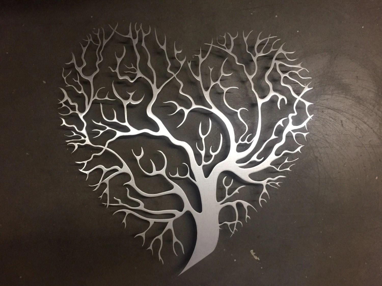 Tree Heart Metal Wall Art Tree Metal Wall Art Unique Wall