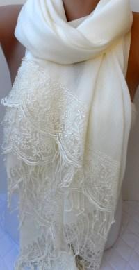 Summer Bridal shawl in ivory Wedding shawls Ivory Pashmina
