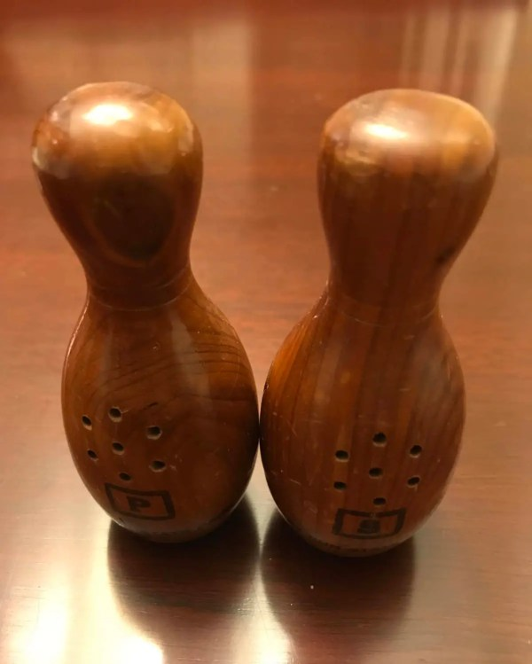 Bowling Pin Salt and Pepper Shakers