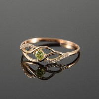 Birthstone ring Gemstone ring Peridot ring Promise ring