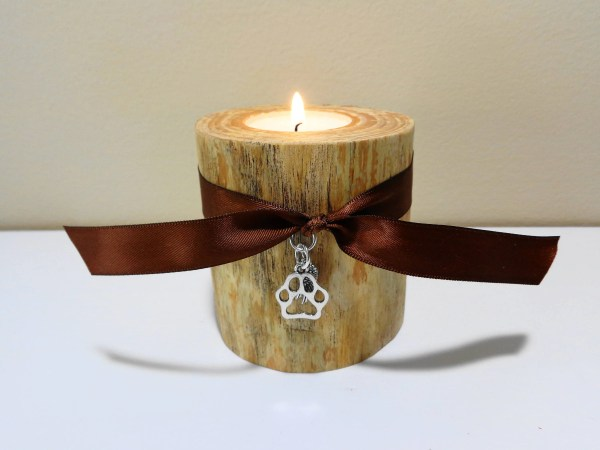 Dog Memorial Cat Pet Candle Log
