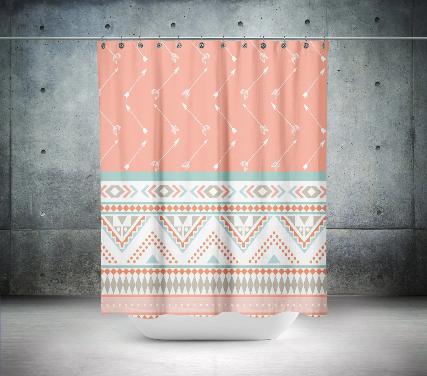 Octopus and Ship Shower Curtain Kraken Tatoo by FolkandFunky