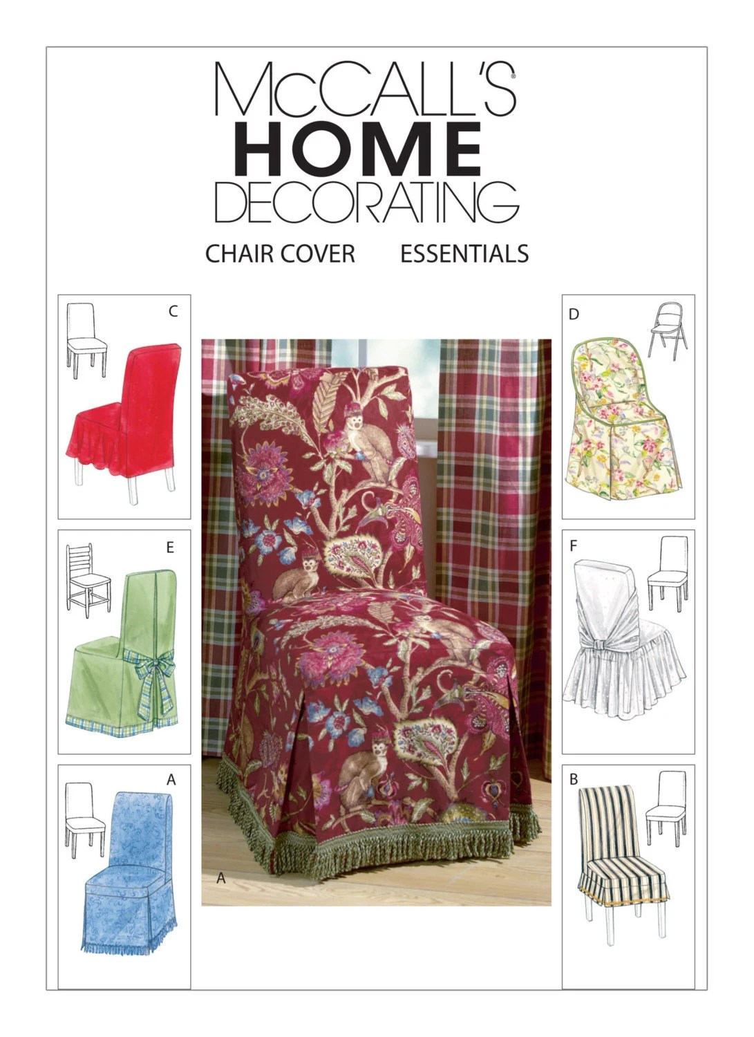 Chair Cover Patterns Sewing Pattern For Chair Covers Six Styles Mccall 39s