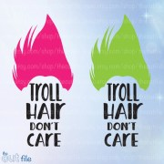 troll svg hair don't care