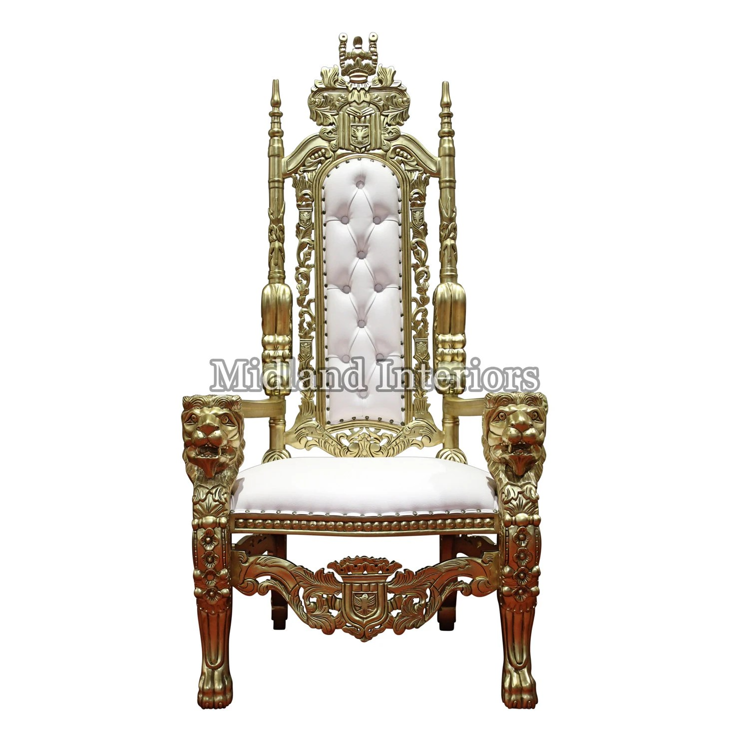 how to make a queen throne chair compact folding new lion king wedding gold leaf gilded