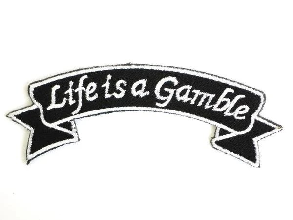 Life Is A Gamble Rockabilly Rider Embroidered Iron On