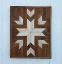 Reclaimed Wood Wall Art Decor Quilt Block Design Lath Art