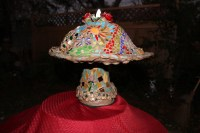 Mosaic Mushroom Lighted accent lamp home decor one of a