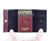 Leather key wallet, burgu...