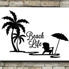 Hanging Hammock Lounge Chair Cat Off Vine Items Similar To Palm Tree And Beach Scene - Vinyl Wall Decor Toilet Tank Sticker On Etsy