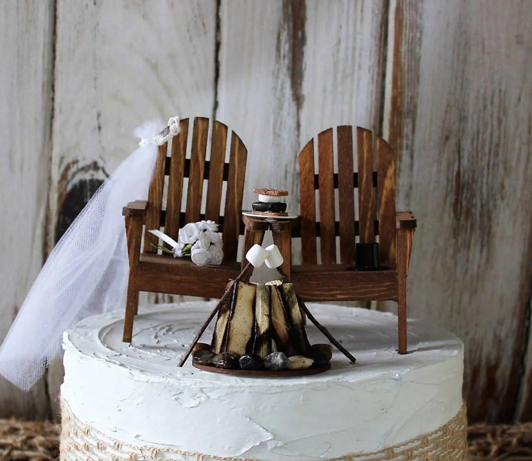 adirondack chair cake topper folding aluminum lawn chairs beach wedding