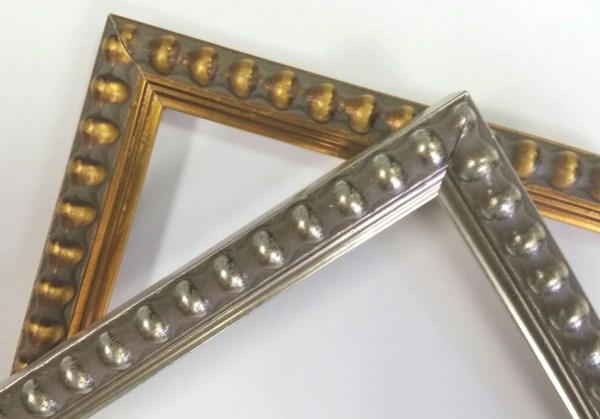 14 X 18 20 24 Beaded Gold Warm Silver Frames