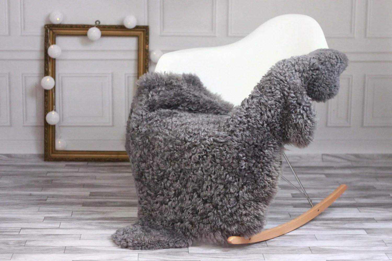 sheepskin rug on chair massage chairs for home sale genuine gotland breed pelt