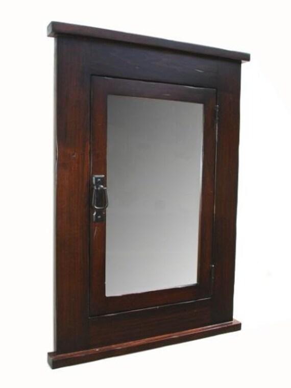Primitive Mission Recessed Medicine Cabinet  Solid Wood