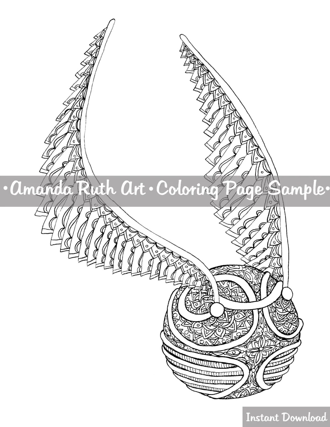 Harry Potter Snitch Coloring Page Download Print Color