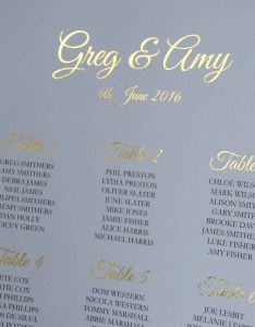 Wedding table plan gold foil seating chart personalised the also etsy uk rh