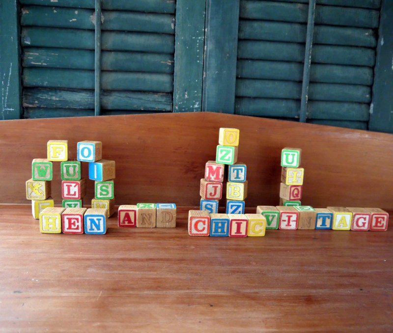 Vintage Wooden Toy Blocks; Baby Shower; Wedding; Display;          Place card Holders; Garland; Baby Decoration; Mobile; Baby Birthday;