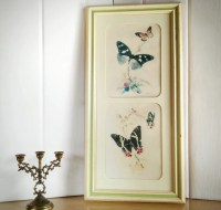 Vintage Turner Wall Art Butterfly Wall Decor by AbateVintage