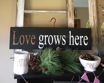 Download Love grows here   Etsy