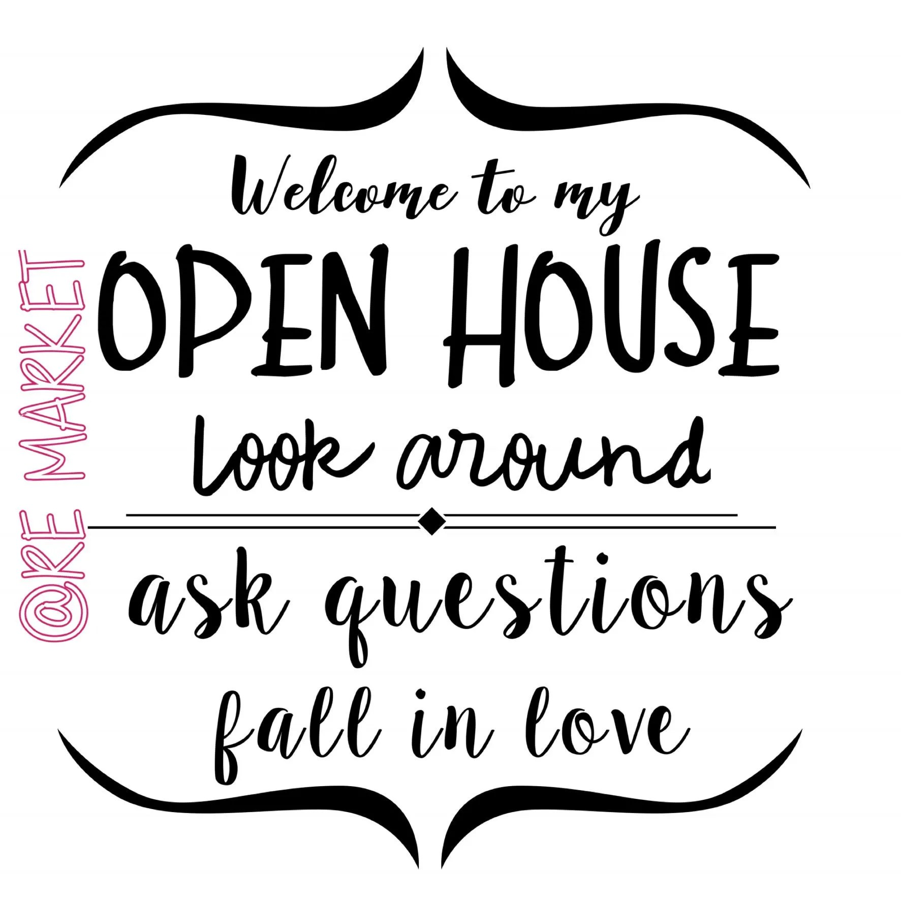 Open House Welcome Sign Realtor Real Estate Open House Sign