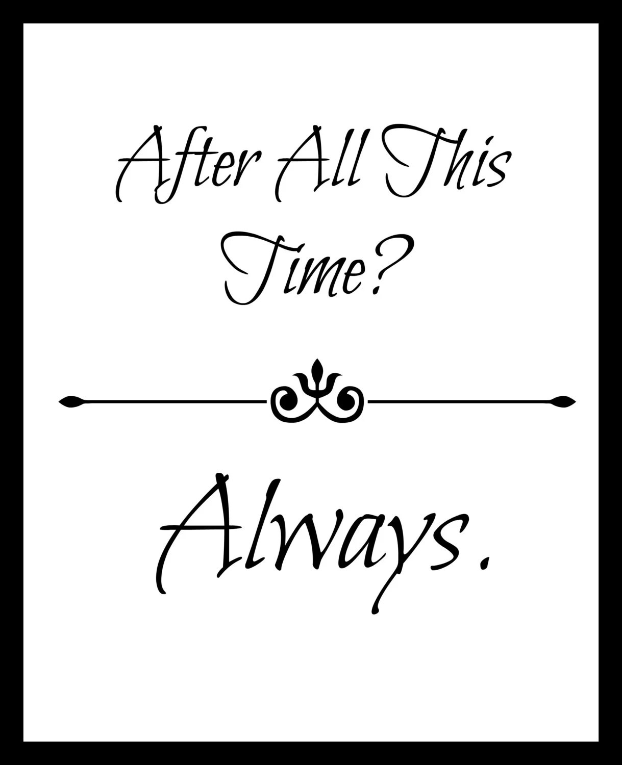 Harry Potter Always quote frame with doe & chapter title book